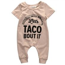 Mignon TACO BOUT IT lettre barboteuse été nouveau-né enfants bébé fille garçon à manches courtes barboteuse coton combinaison vêtements tenues 2019 nouveau