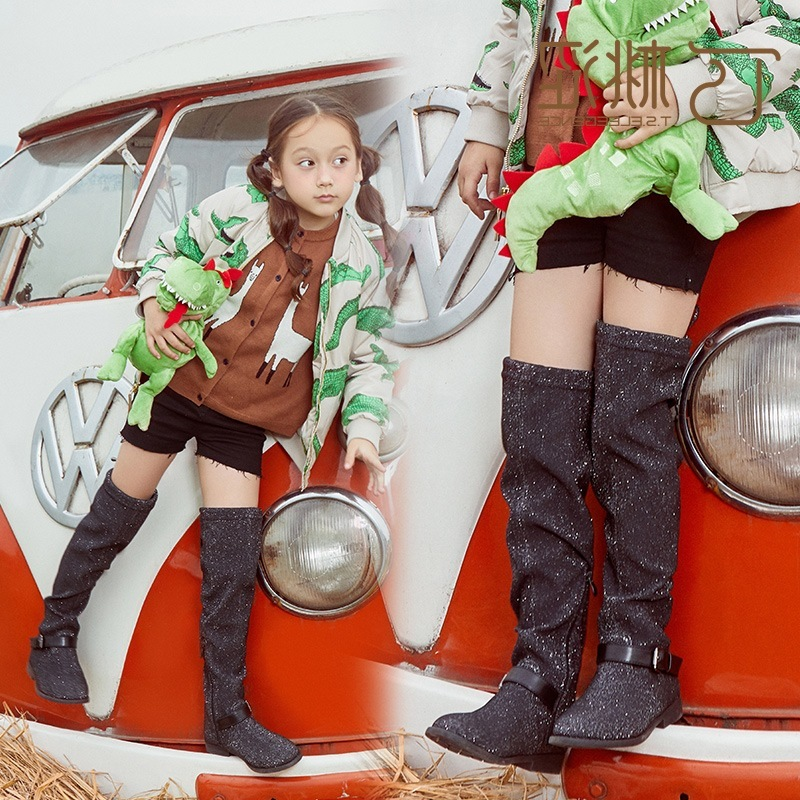 Girl Autumn Overknee Children Increase Down Elastic Baby Child Martin Latest Fashion Women Winter Boots mulinsen latest lifestyle 2017 autumn winter men