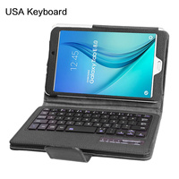 For Samsung Galaxy Tab E 8.0 T377 Tablet BT wireless Removable Keyboard Case For Samsung Galaxy Tab E Tablet Cover
