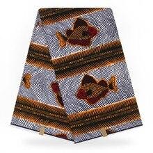 Анкара Африканский воск печати настоящая Ткань Голландский Воск 6 ярдов настоящий горячий воск настоящий хлопок африканская Анкара ткань
