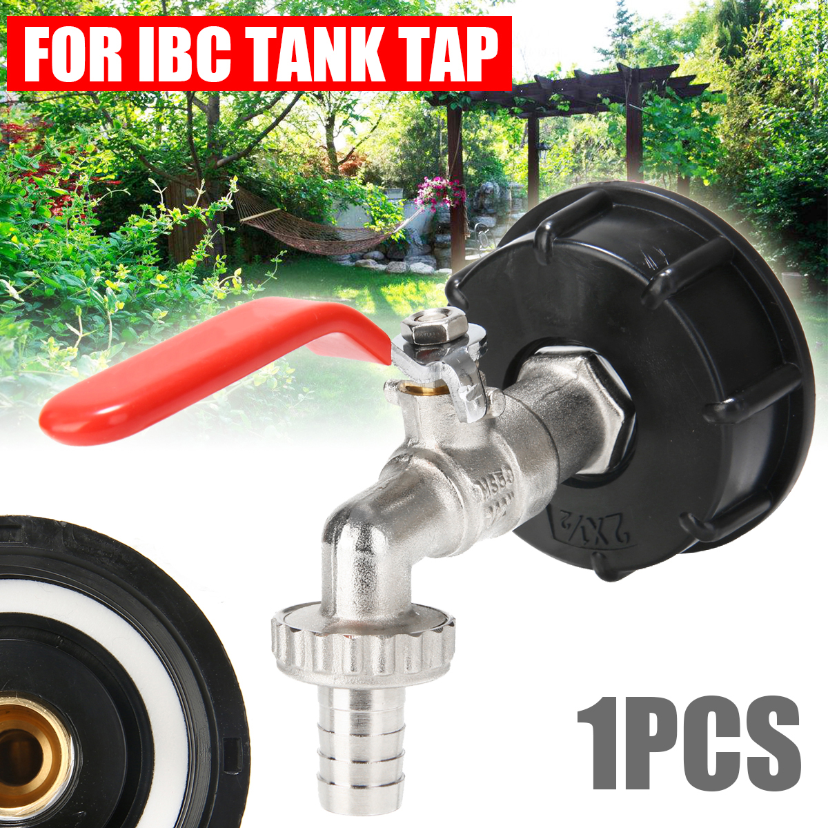S60x6 Thread IBC Tank Tap Adapter Connector To Brass Garden Tap 1 2 quot Hose Fitting Oil Fuel Water Replacement Valve Fitting Parts in Garden Water Connectors from Home amp Garden