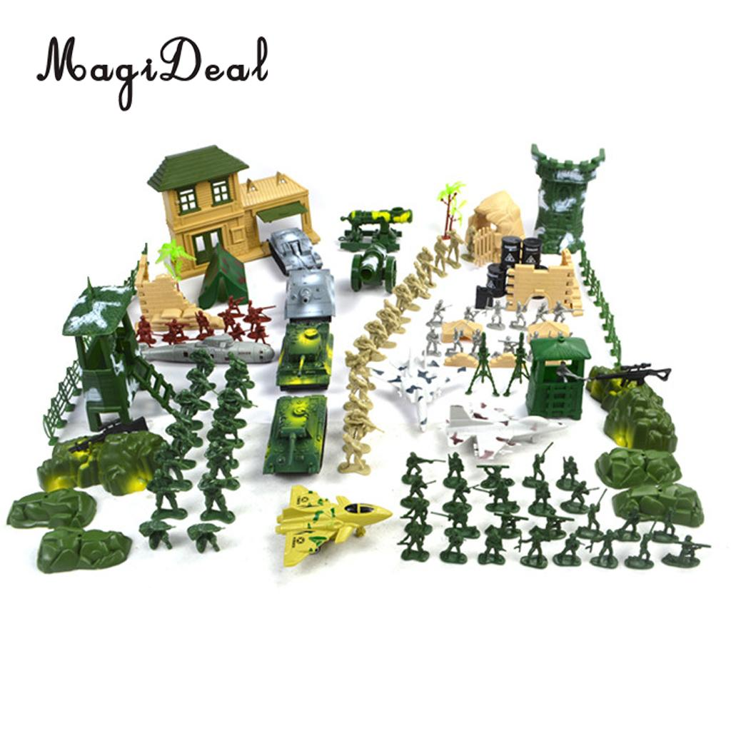 Magideal Plastic Soldier Army-Figures Playset Scenery-Model for Toy Gift-Decor 5cm Adult
