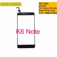 купить 10Pcs/lot For Lenovo K6 Note K53a48 Touch Screen Digitizer Touch Panel Sensor Front Outer Glass Lens K6 Note Touchscreen 5.5