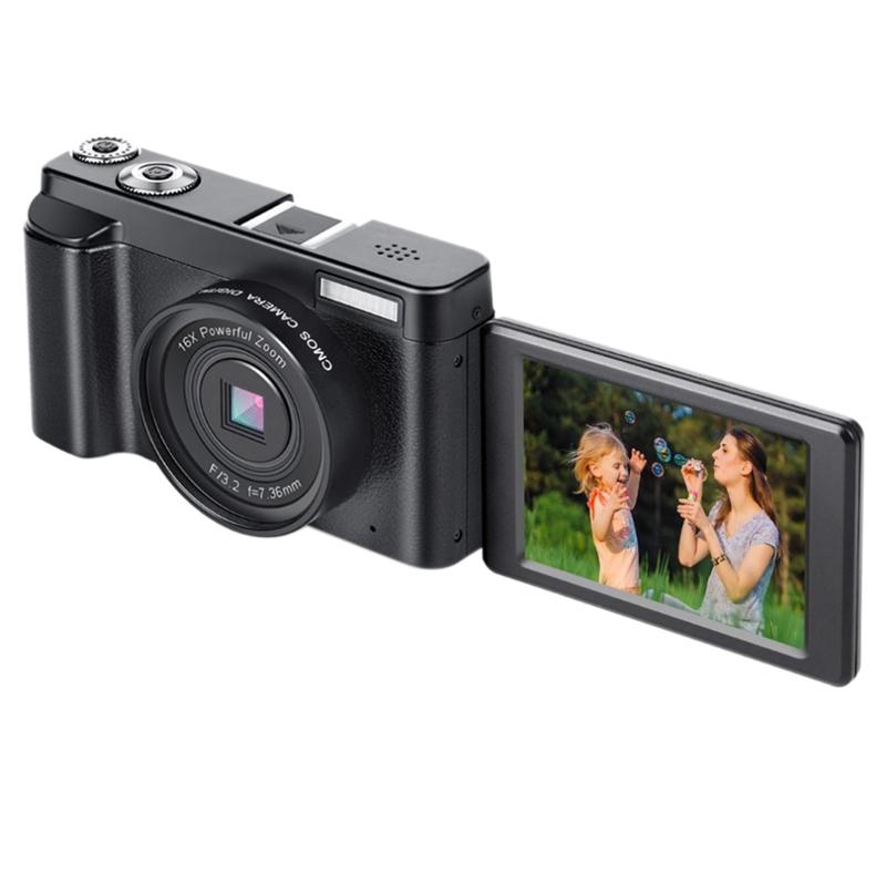 Micro-Camera,Digital Camcorder Hd 1080P 24Mp 3.0 Inch Tft Display 16X Zoom Digital Video Camera Dv Camcorder Mini Dslr Dc101(E image