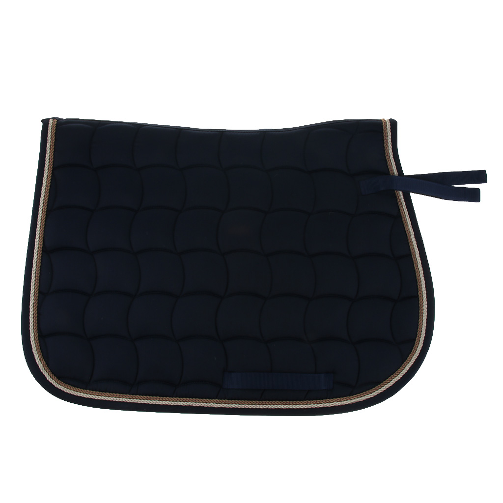 Cotton Quilted Horse Saddle Cloth Equestrian Saddle Pads With Piped Edge 69x50cm