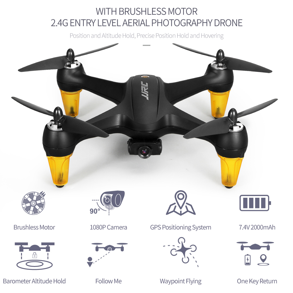 JJRC X3P Upgraded Photography Drone With 1080p HD Camera Brushless Motor Universal Usb Charging Anytime Tracking Quadcopter