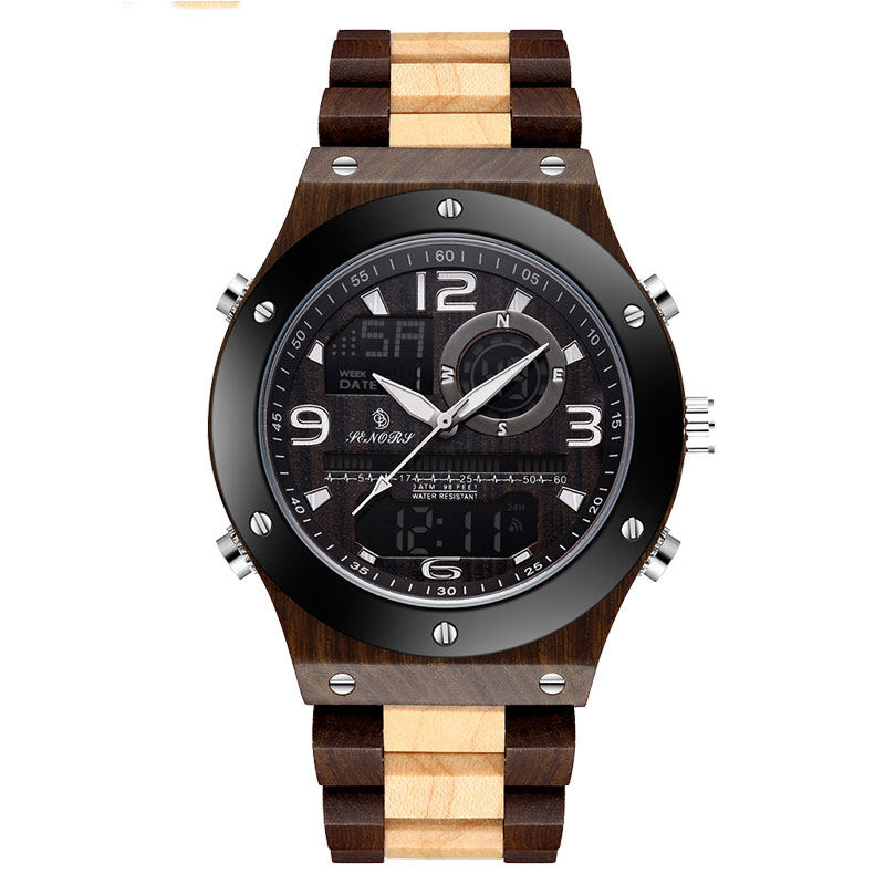New SALE Wooden Watch Waterproof Men Top Brand LED Dual Display Auto Date Luminous Hands Chronograph Clock Male Relogio MasculinNew SALE Wooden Watch Waterproof Men Top Brand LED Dual Display Auto Date Luminous Hands Chronograph Clock Male Relogio Masculin