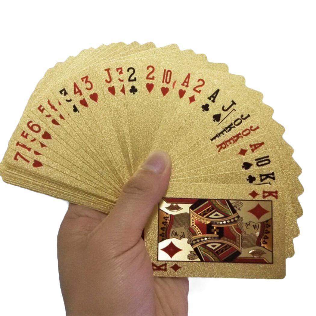 Creative Gold Foil PET Poker Waterproof Playing Cards