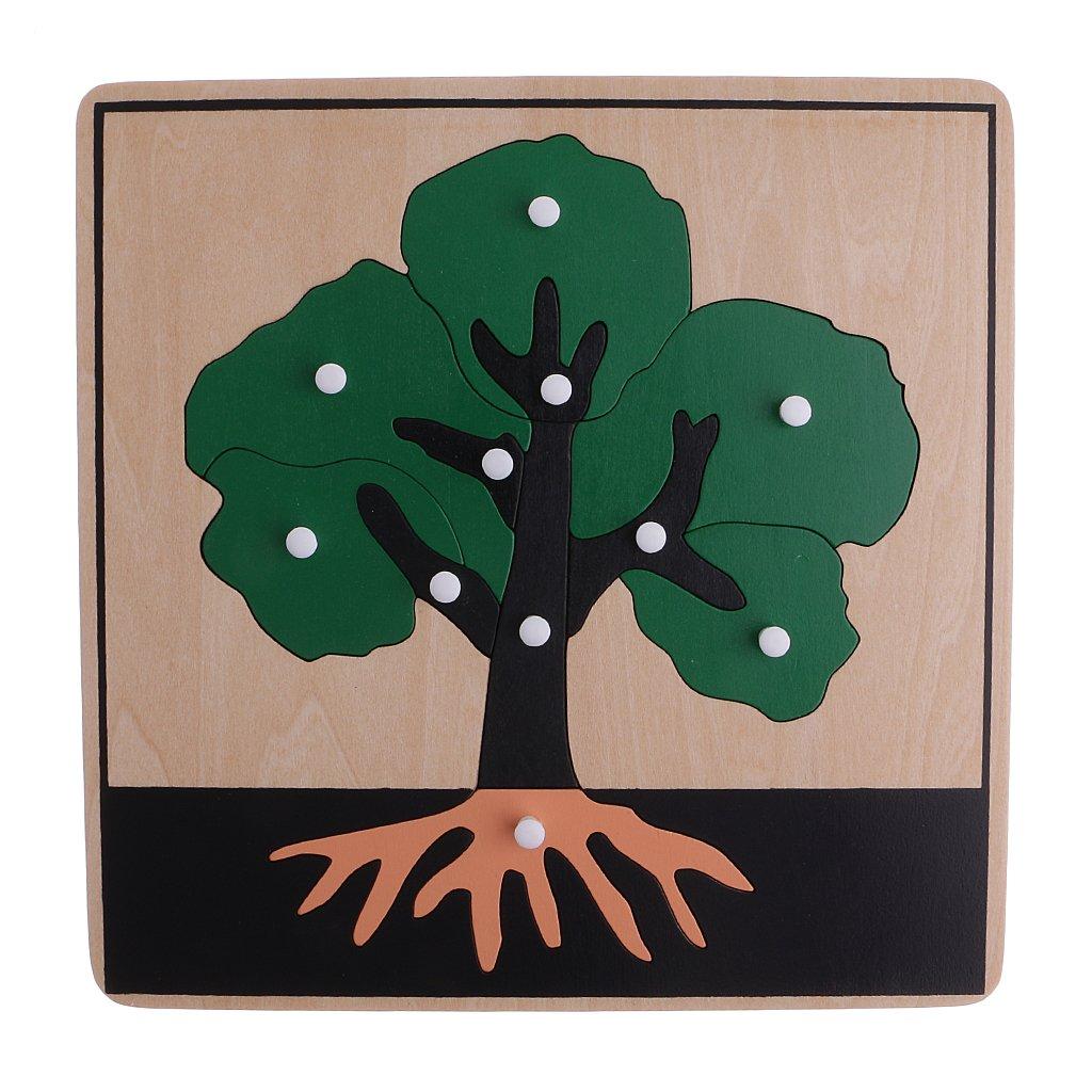 8 stuks Houten Dier Plant Puzzel Intelligentie Ontwikkeling Spel Montessori Early Learning Educatief Speelgoed voor Kinderen Kids - 2