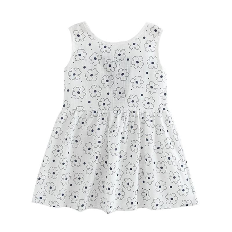 Baby & Toddler Clothing Wholesale Baby Dress Girl Retro Cotton Blend Blouse Cotton Girl Sleeveless