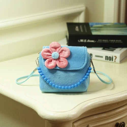 2019 ブランド New ラブリー女の赤ちゃん子供 3D 花ミニジッパートートショルダーメッセンジャー財布バッグキャンディーカラーのコイン財布ギフト
