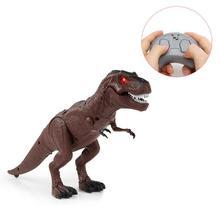 Движущийся ревущий динозавр с дистанционным управлением, Электронный светильник, звуковая игрушка для детей, подарки на Хэллоуин