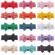 Fashion 1PC Girls Baby Popular Headband Child Elastic Hair Band Bowknot Cute Sweet Dots Printed Kids Accessories