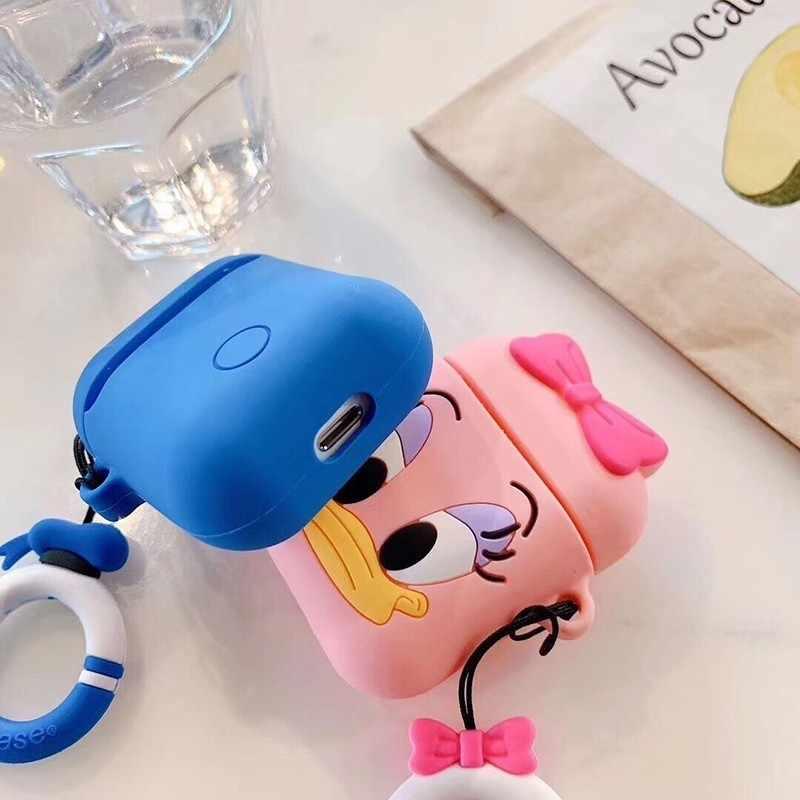 VOZRO Cartoon bezprzewodowy Bluetooth etui na słuchawki do Apple AirPods silikon ładowania słuchawki przypadki dla Airpods pokrywa ochronna