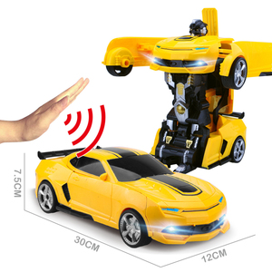 Image 5 - 2.4Ghz 유도 변환 로봇 자동차 1:14 변형 RC 자동차 장난감 led 빛 전기 로봇 모델 fightint 장난감 선물