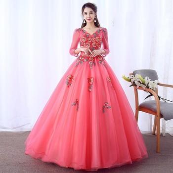 4d36b3e58 Quinceanera Vestidos elegante Plus tamaño vestido De encaje Sexy Prom largo  vestido De fiesta