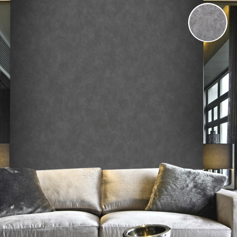 Us 27 3 30 Off Vintage Plain Solid Abstract Concrete Cement Wallpaper Charcoal Black Silver Grey Wall Paper Roll For Bedroom Living Room Deco In