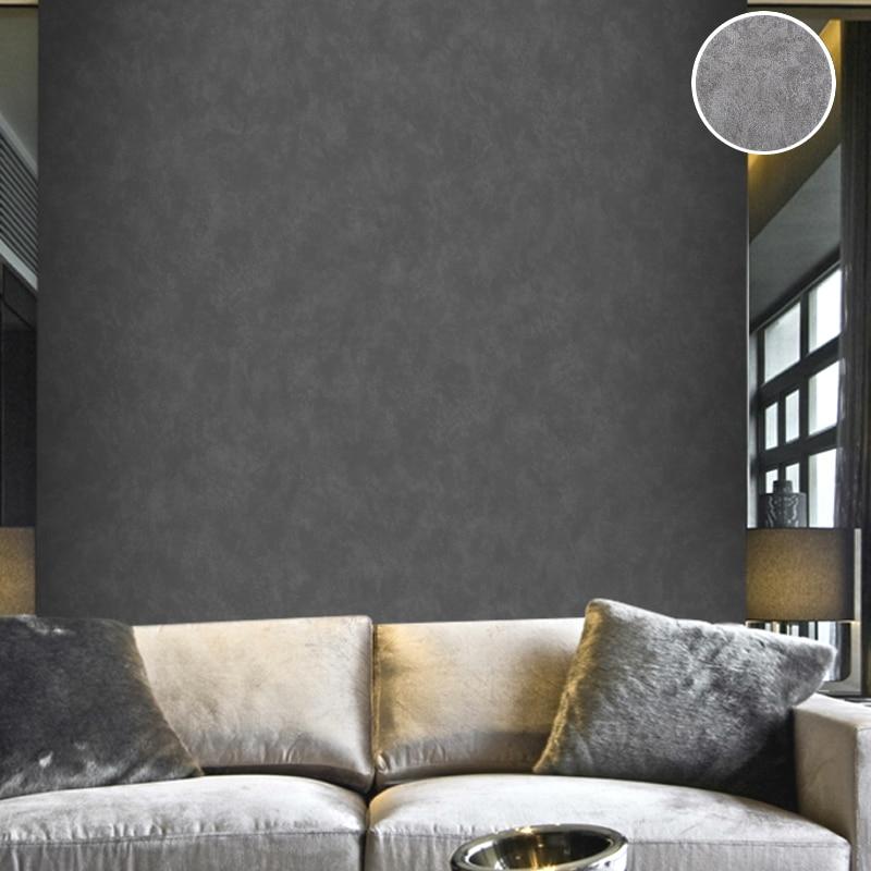 US $26.91 31% OFF Vintage Plain Solid Abstrakte Beton Zement Tapete  Holzkohle Schwarz/Silber grau Wand Papierrolle Für Schlafzimmer Wohnzimmer  Deco-in ...