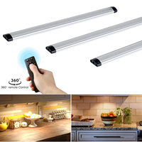 3pcs Remote control LED Kitchen Under Cabinet Rigid Strip Light LED Rigid Bar Light Kit Closet Wardrobe LED Bar Lamp