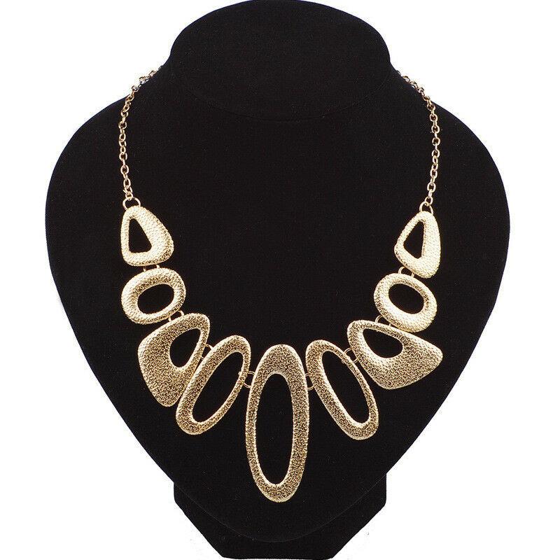 Ladies Fashion NECKLACE Chunky Retro Jewellery STATEMENT Costume Chain