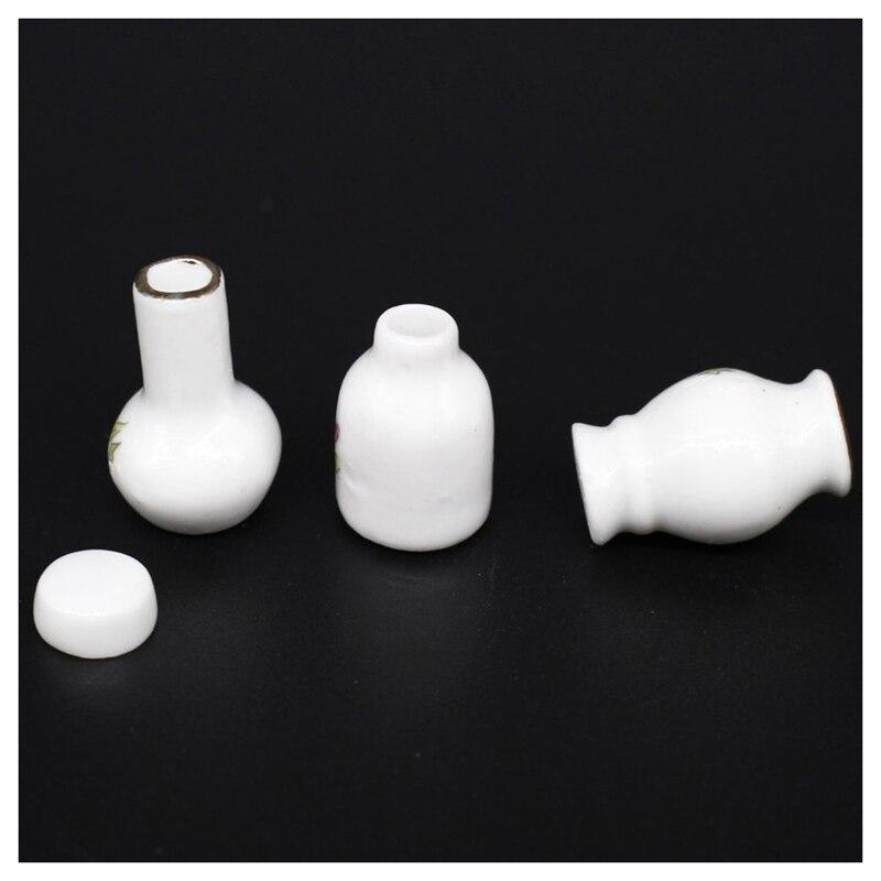 4pcs Mini Flower Pots Miniatures 1//12 Dollhouse Home Room Decor Accessories