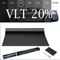 50cmX300cm 2 mil VLT20% IR80% heat resistant Nano Ceramic glass tint car window film
