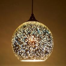 Modern LED 3D glass ball pendant light,dia 15/20cm colorful Plated Glass lampshade droplight for Restaurant cafe bar lighting недорого