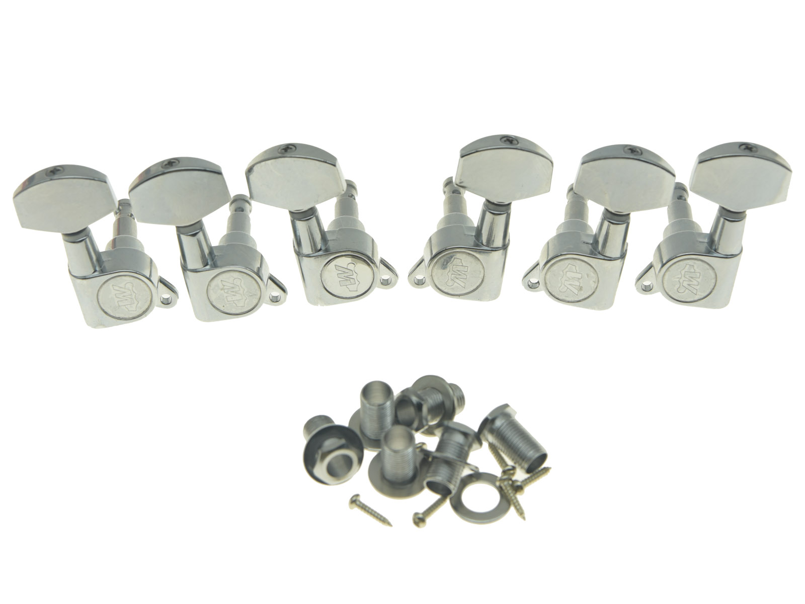 Wilkinson Gold Flat Sided Mini Button 3+3 or 6 Line Tuning Pegs