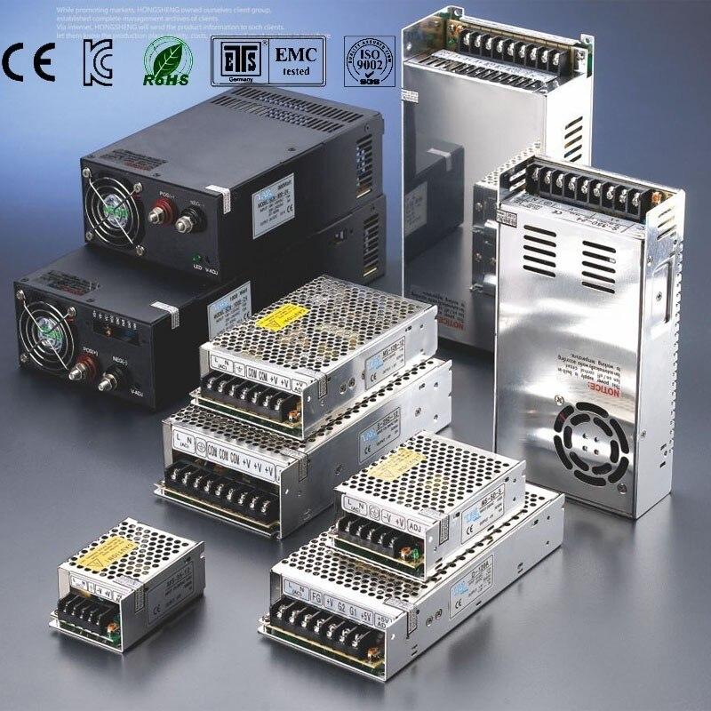 Switching 5v 12v 24v 48v Power Supply Source adjustable Transformer AC DC SMPS led meanwell