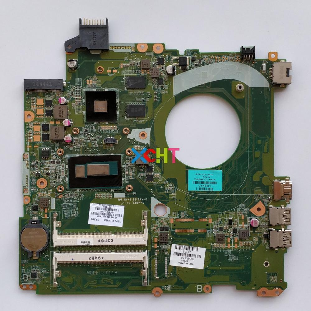 766473-501 766473-001 766473-601 DAY11AMB6E0 w i5-4210U 840M/2G for HP Pavilion 15-P Series 15T-P000 NoteBook Laptop Motherboard