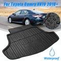 Tronco traseiro carga boot forro bandeja piso esteira de carga traseira folha tapete acessórios auto para toyota camry xv70 2018 +|  -