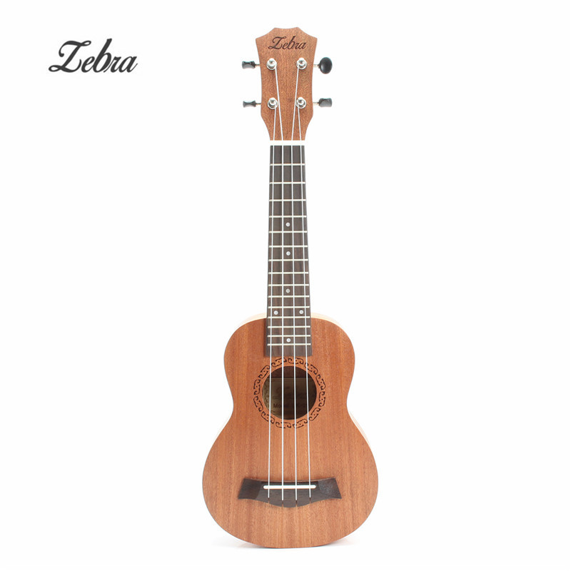 Zebra Frühling 21 zoll 15 Bünde Mahagoni Sopran Ukulele Gitarre Sapele Palisander 4 Strings Hawaiian Gitarre Musical Instruments