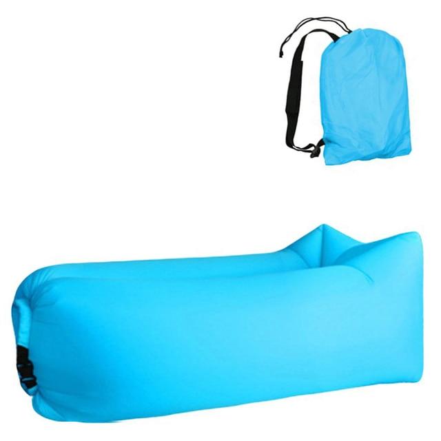 Aotu Light sleeping bag Waterproof Inflatable bag lazy sofa camping Sleeping bags air bed Adult Beach Lounge Chair Fast Folding 4