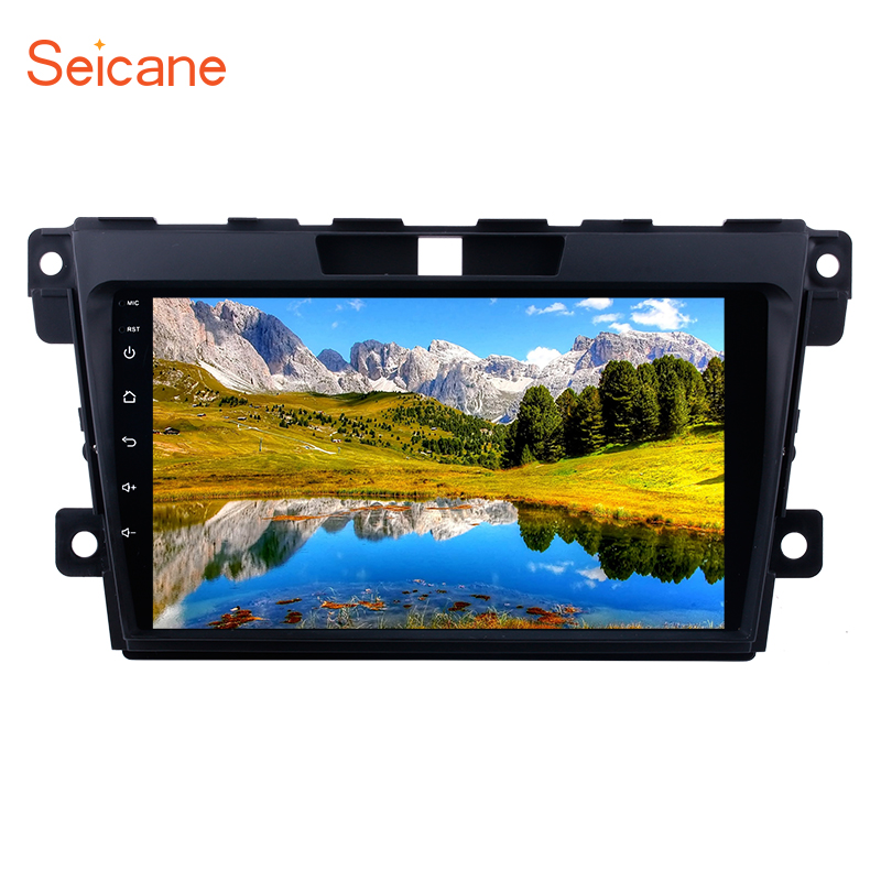 Seicane <font><b>2Din</b></font> Android 9.0 9 inch Car Radio For 2007 2008 2009-2014 <font><b>MAZDA</b></font> <font><b>CX</b></font>-<font><b>7</b></font> GPS Navi Stereo Multimedia Player Head Unit 3G Wifi image