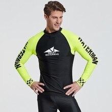 536d1a118dfab Protección UV nadar camisa Lycra hombres traje de manga larga de Lycra Surf  erupción hombre Surf