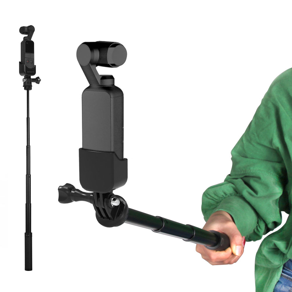 osmo pocket selfie stick extend pole 1/4 adapter mount bracket extension rod pocket tripod dji osmo pocket accesorios pocket tripod pro
