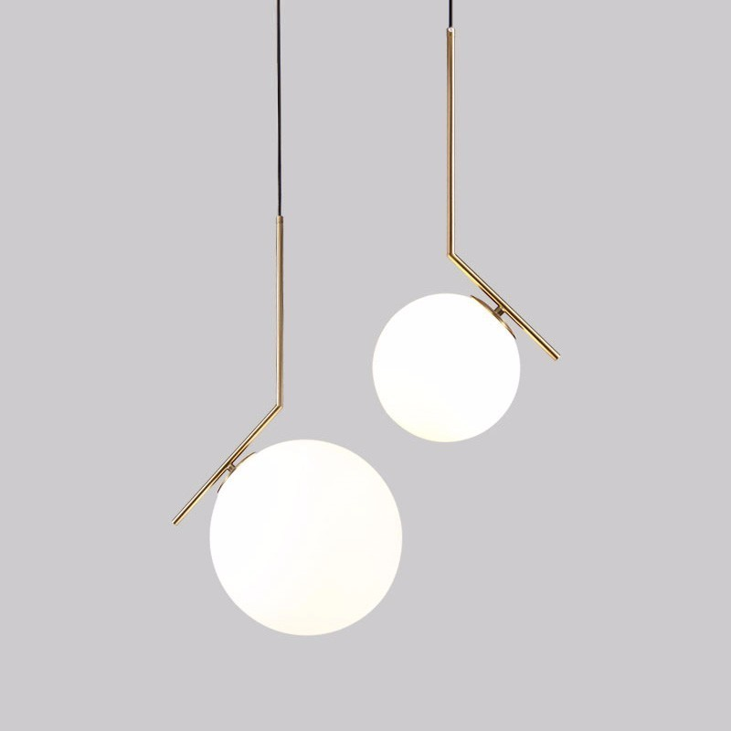 Modern Luxury LED Chandelier Light Glass Ball Dining Living Room Hanging Lamp Gold Chrome Lustre Suspension