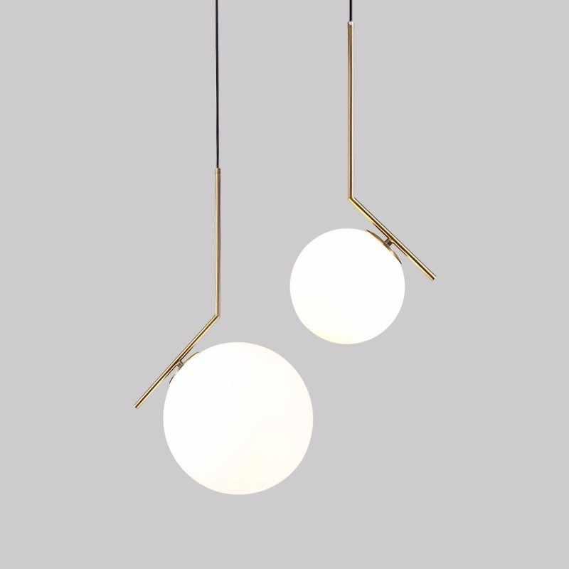 Современный роскошный светодиодный люстра лампа в виде светящегося шара обеденный Гостиная подвесной светильник золотой хромированный Люстра Подвеска для Спальня освещение