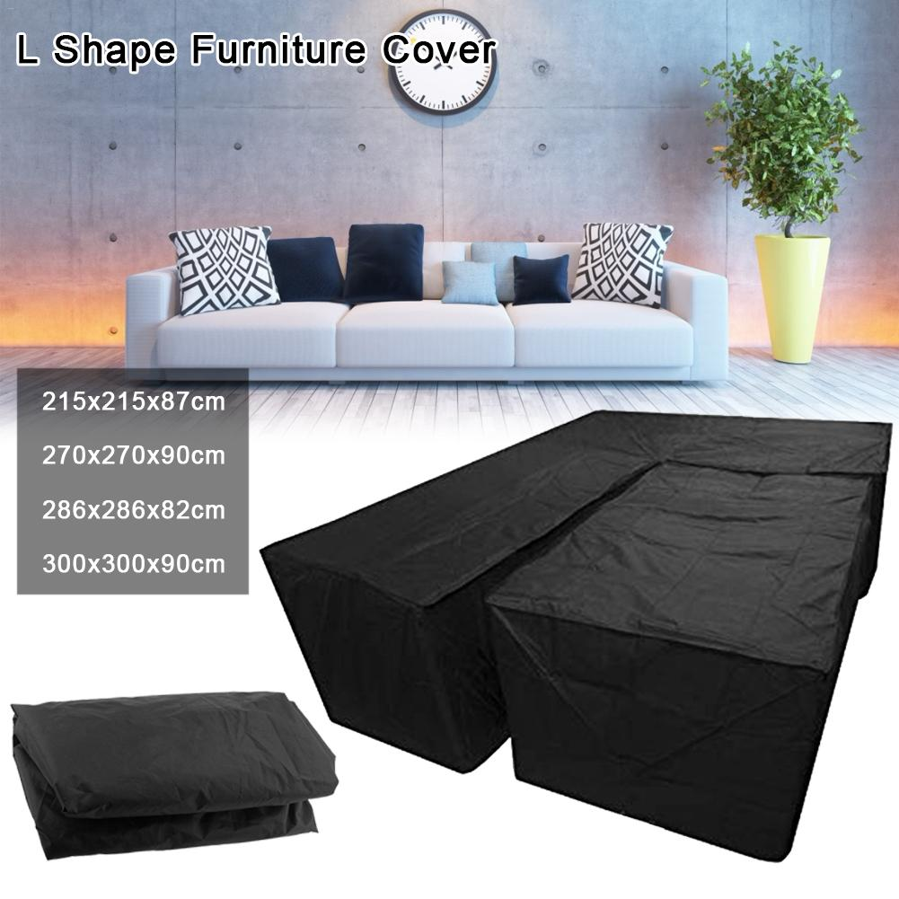 2Pcs Waterproof L Shape Dust Cover Cube Corner Furniture Sofa Rattan Cover For Outdoor Garden All-Purpose Dust Covers