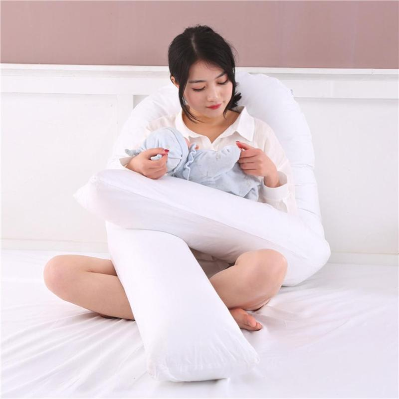 Sleeping Support Pillow For Pregnant Women Body U-Shape Pregnancy Women Pillow Side Sleeping Support Maternity Long Cushion Подушка