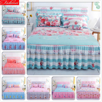 Sheet + 2pcs Pillowcase Bedding Set Kids Adult Bedspreads Bed Skirt Double Lace Single Twin Queen King Size High Quality 150x200