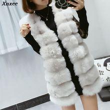 Faux Fur Coat Winter Women 2018 Fashion Casual Warm Slim Sleeveless Faux Fox Fur Vest Winter Jacket Coat Women casaco feminino цена и фото