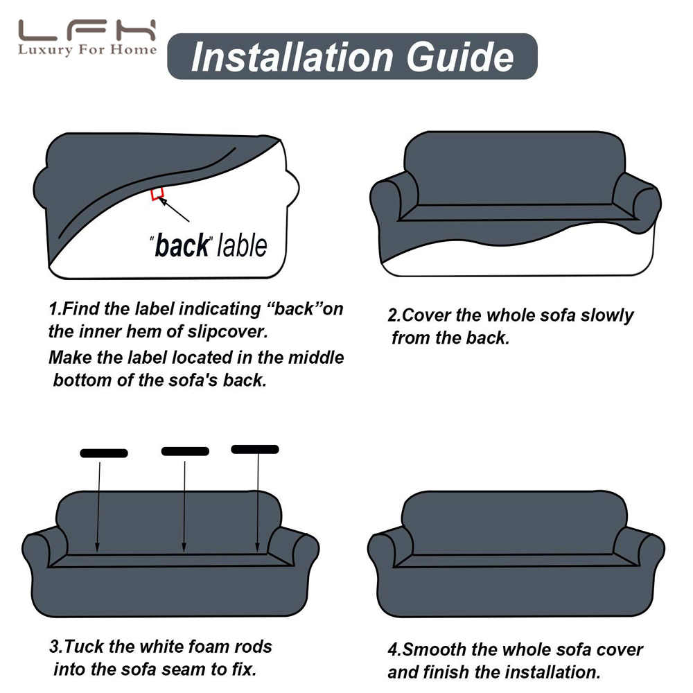 Amazing Lfh Waterproof Sofa Cover Furniture Protector With Elastic Spandex Jacquard Fabric Futon Sofa Seat Cushion Cover Set Slipcover Forskolin Free Trial Chair Design Images Forskolin Free Trialorg