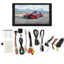 Универсальный автомобильный MP5 плеер Android 8,1 16 г 7 дюймов сенсорный экран HD четырехъядерный процессор BT WiFi 2 DIN gps навигация с камерой
