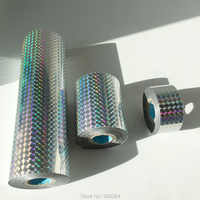 2019 Newest Foil Package Box Holographic Laser Silver Foil Plain Foil Hot Stamping with Shipping Cost