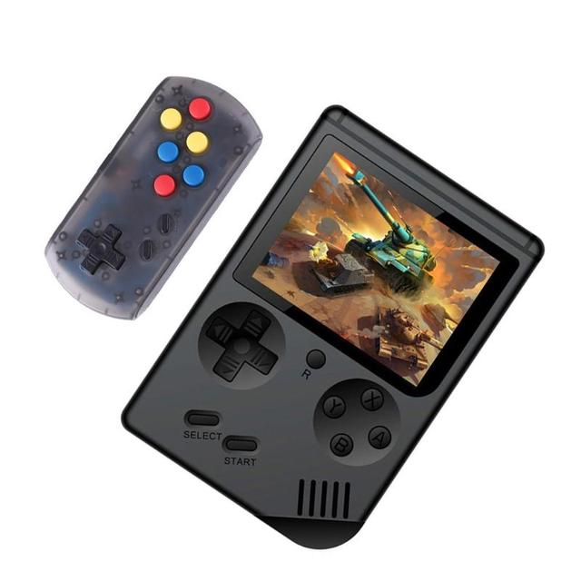 RS-6 A Retro Portable Mini Handheld Game Console 8-Bit 3.0 Inch Color LCD Kids Color Game Player Built-in 168 games with Gamepad