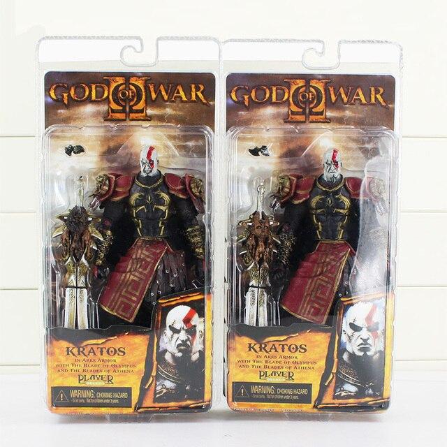 1. p. Neca God Of War Kratos Na Armadura de Ouro de Veludo Medusa Cabeça Ação Pvc Figura Coleção Modelo Toy Envio Gratuito