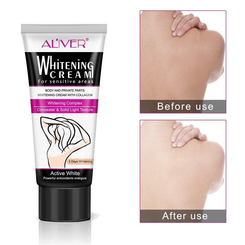 Underarm Whitening Cream Armpit Whitening Cream Legs Knees Private Parts Body Whitening Cream Korean Cosmetics Skin Care 60ML 4