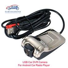 Usb carro dvr para android jogador de rádio do carro hd 720 p 140 graus grande angular câmera frontal do carro gravador de vídeo câmera traço com adas