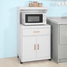 SoBuy FSB12-W  Kitchen Storage Trolley Microwave Shelf Cabinet Cupboard Sideboard on Wheels